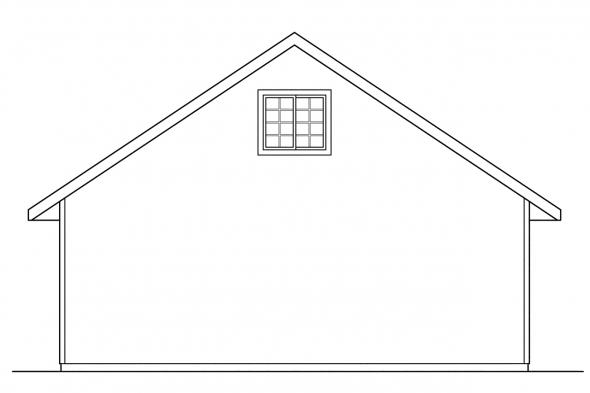 Garage Design 20-005 - Rear Elevation