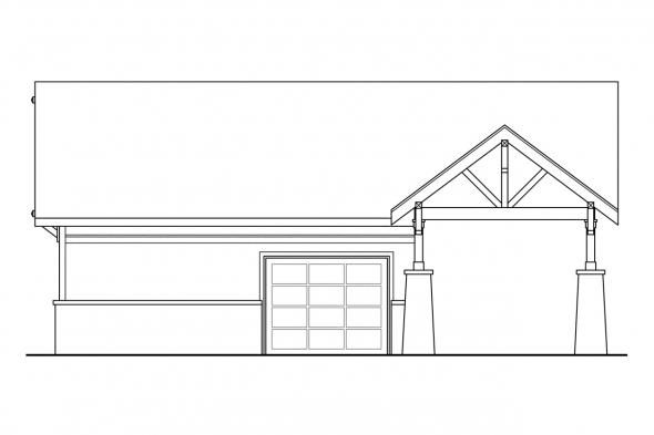 Garage Design 20-021 - Rear Elevation