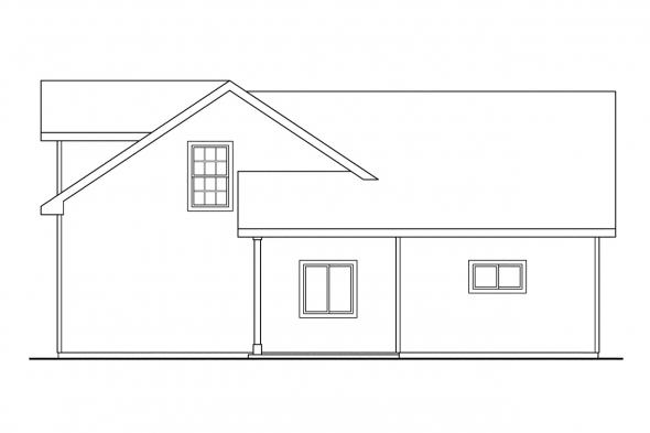 Garage Design 20-022 - Rear Elevation