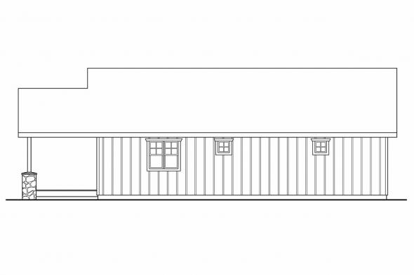 Garage Design 20-034 - Rear Elevation