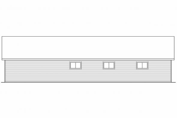 Garage Design 20-037 - Rear Elevation