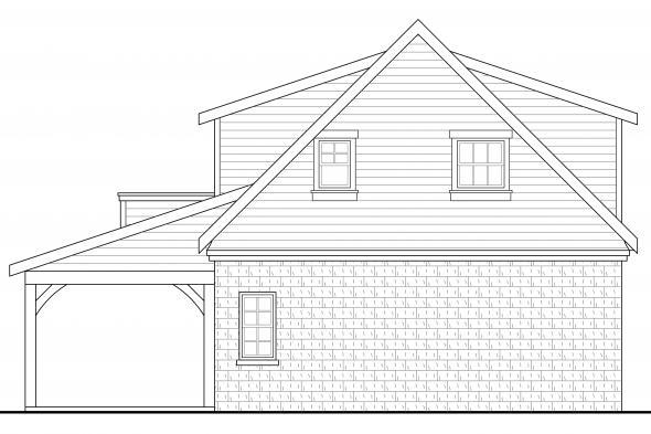 Garage Design 20-067 - Rear Elevation