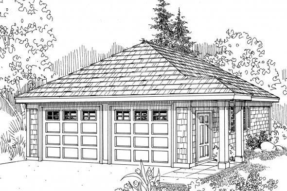 Garage Plan 20-006 - Front Elevation