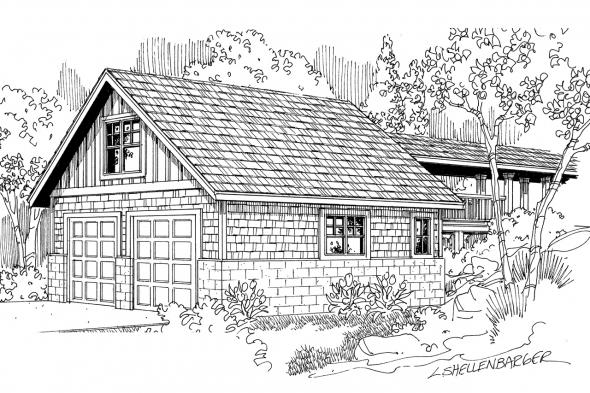 Garage Plan 20-013 - Front Elevation