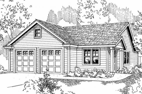 Garage Plan 20-035 - Front Elevation