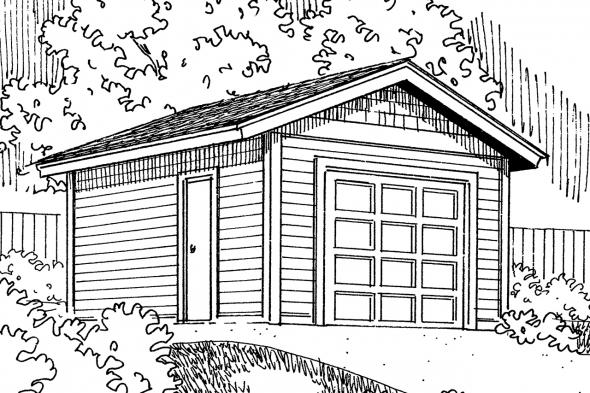 Garage Plan 20-045 - Front Elevation