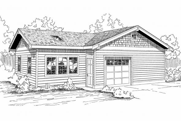 Garage Plan 20-056 - Front Elevation