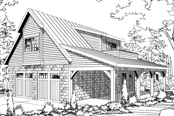 Garage Plan 20-067 - Front Elevation