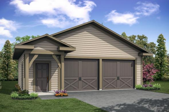 Garage Plan 20-222 - Front Elevation