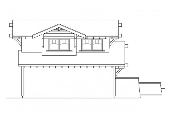 Garage Plan with Apartment 20-008 - Left Elevation