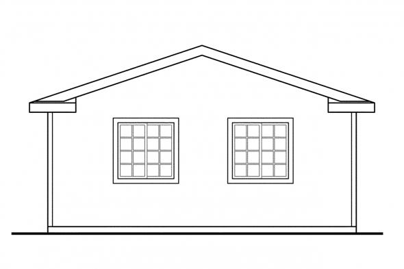 Garage Plan with Office 20-014 - Right Elevation