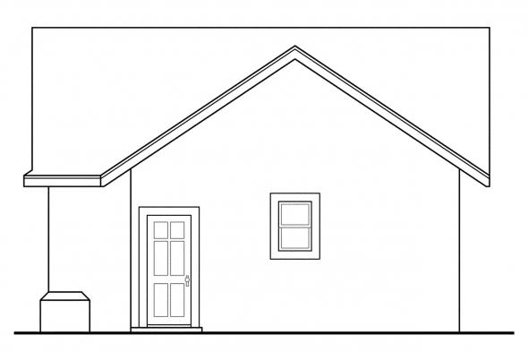 Garage Plan With Shop 20-016 - Right Elevation