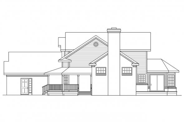 Georgian House Plan - Charleston 10-252 - Right Elevation