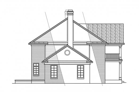 Georgian House Plan - Clairmont 10-041 - Left Elevation