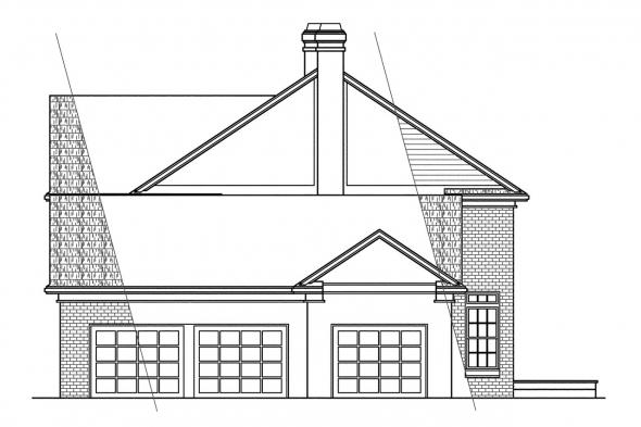 Georgian House Plan - Clairmont 10-041 - Right Elevation