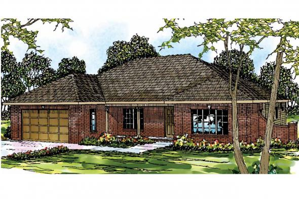 Georgian House Plan - Lewiston 30-053 - Front Elevation
