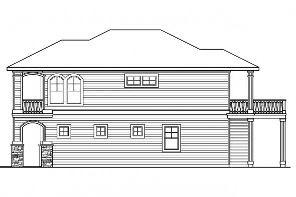 Georgian House Plan - Marianna 30-592 - Right Elevation