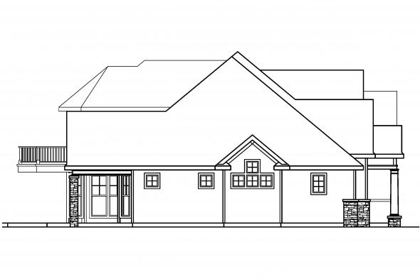 Georgian House Plan - Southwick 30-482 - Left Elevation