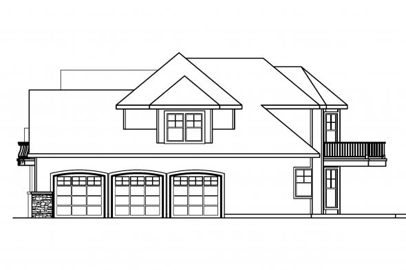 Georgian House Plan - Southwick 30-482 - Right Elevation