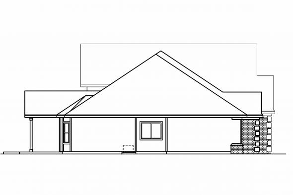Georgian House Plan - Wellesley 30-494 - Left Elevation