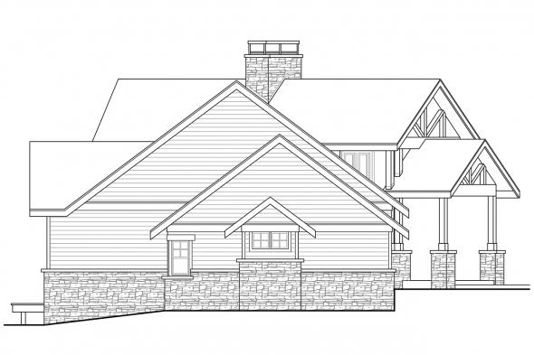 Lodge Style House Plan - Allison 30-609 - Left Elevation