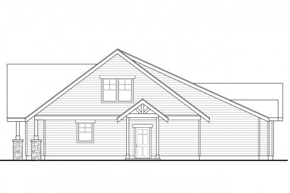 Lodge Style House Plan - Allison 30-609 - Right Elevation