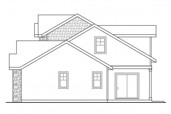 Lodge Style House Plan - Cloverport 30-802 - Right Elevation