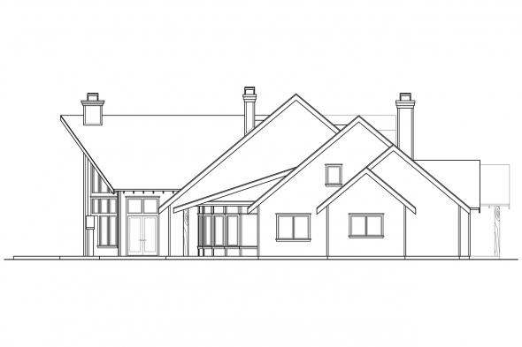 Lodge Style House Plan - Coeur D'Alene 30-634 - Left Elevation