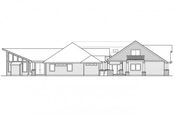 Lodge Style House Plan - Missoula 30-595 - Left Elevation