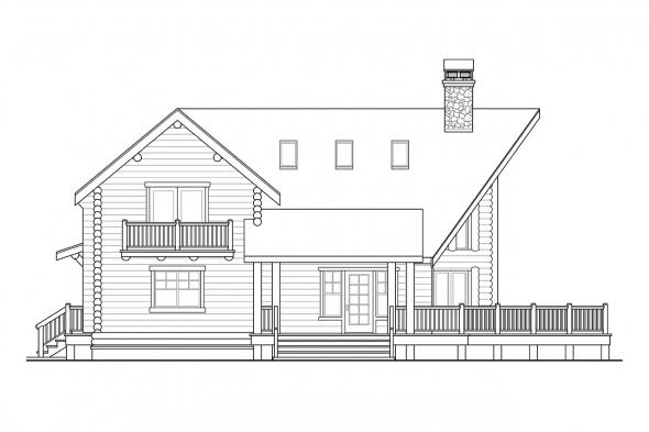 Lodge Style House Plan - Stillwater 30-399 - Left Elevation