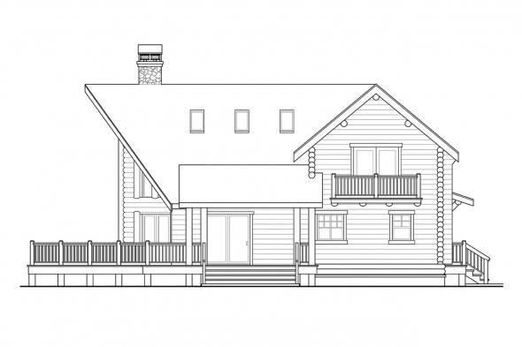 Lodge Style House Plan - Stillwater 30-399 - Right Elevation