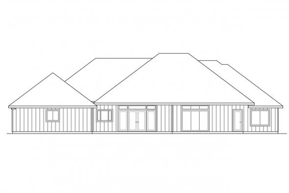 Luxury House Plan - Barstow 30-050 - Rear Elevation