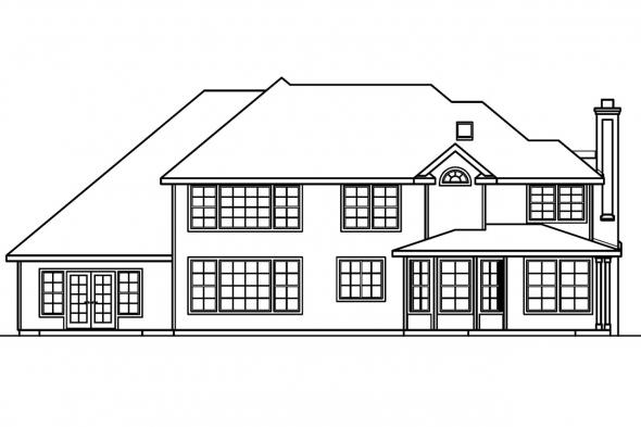 Luxury House Plan - Bellingham 30-429 - Rear Elevation