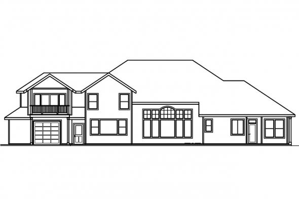 Luxury House Plan - Bethany 30-272 - Rear Elevation