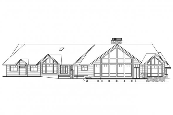 Luxury House Plan - Allison 30-609 - Rear Elevation