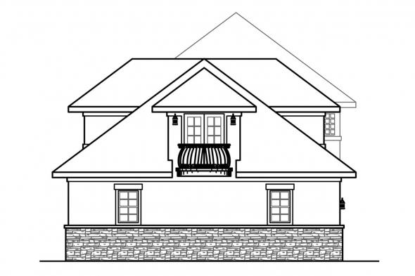 Luxury House Plan - Jacksonville 30-563 - Left Elevation