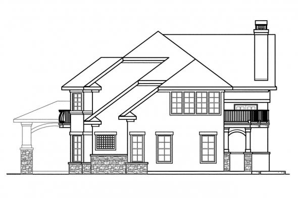 Luxury House Plan - Jacksonville 30-563 - Right Elevation