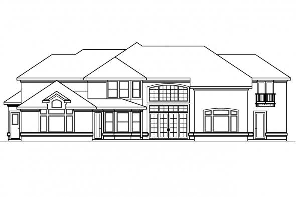 Luxury House Plan - Lucardo 30-181 - Rear Elevation