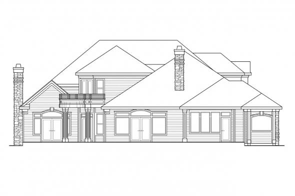 Luxury House Plan - Macleod 30-120 - Rear Elevation