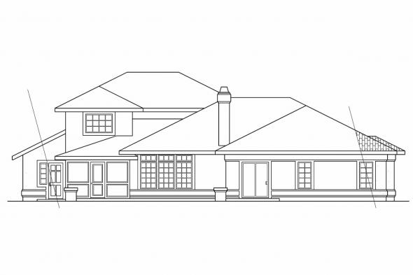 Luxury House Plan - St. Petersburg 11-071 - Rear Elevation