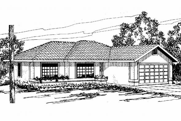 Mediterranean House Plan - Anton 11-080 - Front Elevation