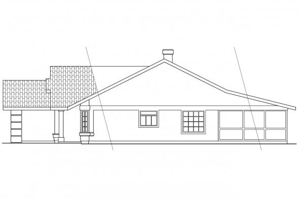 Mediterranean House Plan - Arcadia 11-003 - Right Elevation