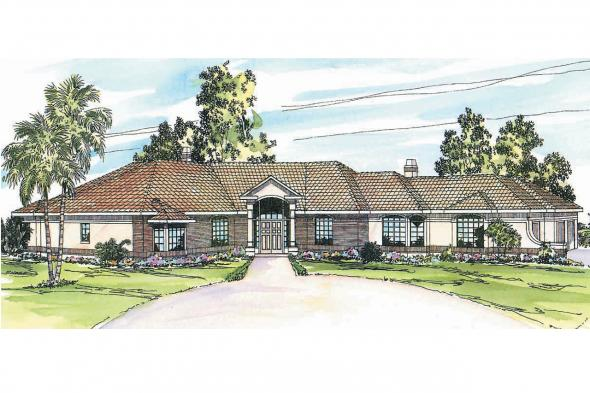 Mediterranean House Plan - Braxton 11-040 - Front Elevation