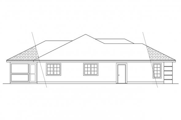 Mediterranean House Plan - Brisbane 11-016 - Left Elevation