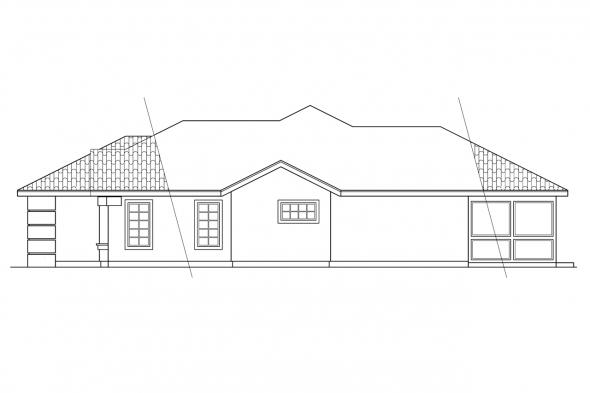 Mediterranean House Plan - Brisbane 11-016 - Right Elevation