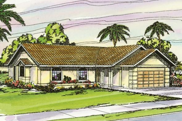 Mediterranean House Plan - Catalina 11-002 - Front Elevation