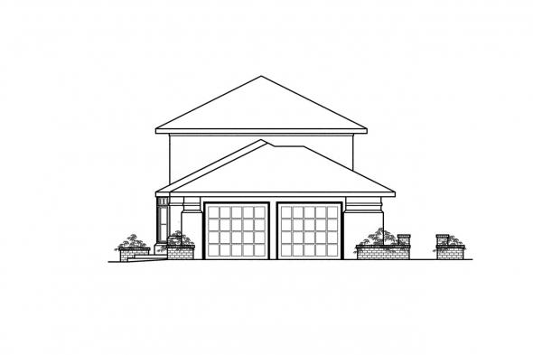 Mediterranean House Plan - Estegan 30-125 - Left Elevation