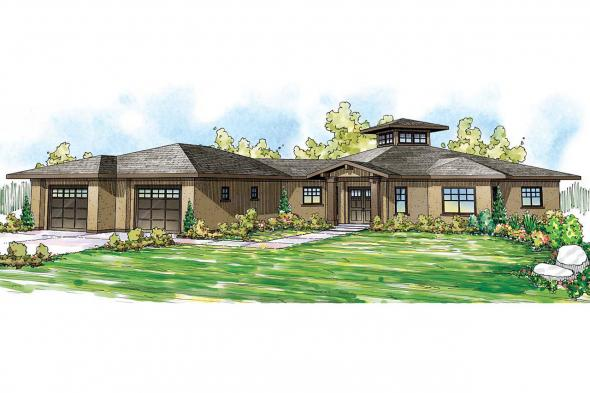 Mediterranean House Plan - Flora Vista 10-546 - Front Elevation