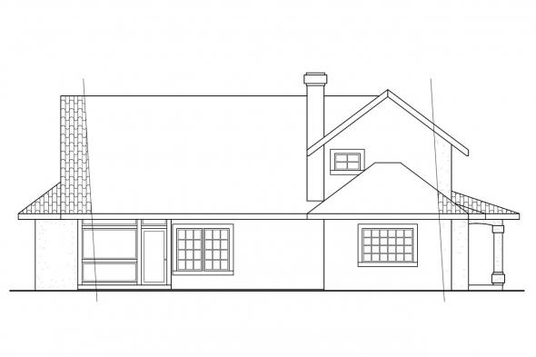 Mediterranean House Plan - Kendall 11-092 - Rear Elevation
