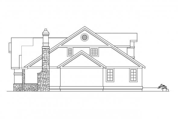 Mediterranean House Plan - Manchester 10-183 - Right Elevation